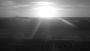 Black and White Camps Bay Sunset